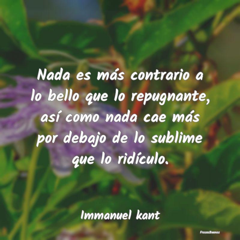 Frases De Immanuel Kant
